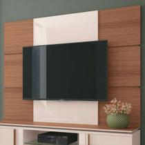 Painel para TV até 70 Polegadas Level Marrom Nature e Off White - Hb móveis