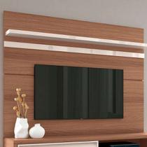 Painel para TV até 70 Polegadas Venezza Marrom Nature e Off White - Hb móveis