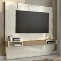 Painel Para Tv Até 75 Polegadas Tb126 100% Mdf Off White/carvalho - Dalla Costa -
