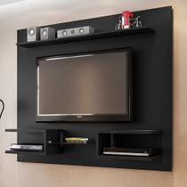 Painel para TV Atlas Preto Fosco - Móveis bechara