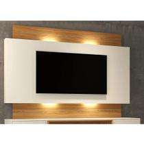 Painel Para TV Com Led Off White Freijó - Dalla Costa