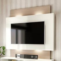 Painel Para TV Com Led Off White Natural - Dalla Costa