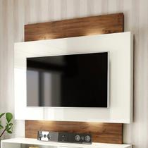 Painel Para TV Com Led Off White Nobre - Dalla Costa