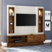 Painel para TV com LED TB128L - Dalla Costa - Nobre/Off white