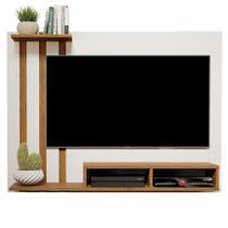 Painel Para Tv de 48 Polegadas Dubai  Off White / Nature - Mania de Móveis - Rpm Móveis