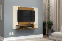 Painel para TV de até 50 polegadas EJ - Off White com Freijó - E J Móveis
