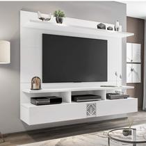 Painel para TV de até 60 Polegadas 2 Portas Bahamas Siena Móveis Avelã/Branco White -