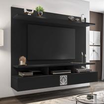 Painel para TV de até 60 Polegadas 2 Portas Bahamas Siena Móveis Avelã/Preto Black -