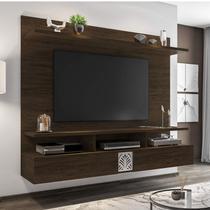 Painel para TV de até 60 Polegadas 2 Portas Bahamas Siena Móveis Branco/Cedro -
