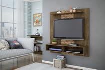 Painel para TV Gama Madeira Rústica com Madeira 3D - Móveis Bechara -