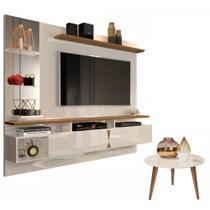 Painel para Tv Intense com Mesa de Centro Brilhante - Lukaliam Móveis