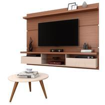Painel para TV Lívia 2.2 e Mesa de Centro Solaris Nature/Off White - Mpozenato - Mpozenato - btl