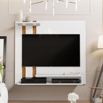 Painel Para Tv Smart Plus - Branco / Nature - Mania de Móveis - Rpm Móveis