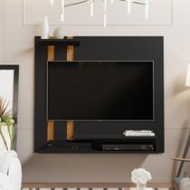 Painel Para Tv Smart Plus - Preto / Nature - Mania de Móveis - Rpm Móveis
