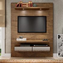 Painel para TV Suspenso 140cm com Led e Espelho TB106E Dalla Costa -