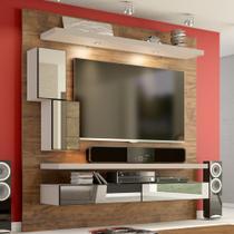 Painel para TV Suspenso 180cm com Led Espelho e Nicho TB109E Dalla Costa -