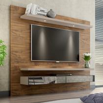 Painel para TV Suspenso 220cm com Led e Espelho TB108E Dalla Costa -