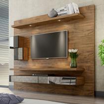 Painel para TV Suspenso 220cm com Led Espelho e Nicho TB110E Dalla Costa -