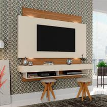 Painel para TV Suspenso Tb115l Com Led Off White/Freijo - Dalla costa