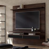 Painel para TVs até 65 Polegadas com Bancada Smart Casa D Castanho/Preto -