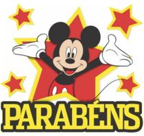 Painel Parabéns Mickey - Piffer
