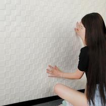 Painel Placa 3d Espuma Adesiva 70 X 70 Parede Cubos - Gf Casa Decor