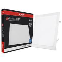 Painel Plafon Led 30w Quadrado Embutir Branco Frio Luminária - Avant