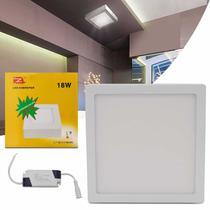 Painel Plafon Luminária Led Quadrado Slim 18W 6000K Branco Frio Bivolt Alumínio Sobrepor - Prime