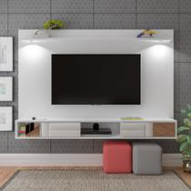 Painel Platinum  Para TV até 55 Polegadas C/ Espelho Led Branco Artely -
