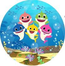 Painel Redondo 3d Festa Baby Shark 1,50x1,50m C/elástico - Genial Painés
