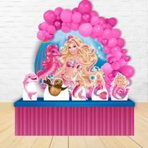 Painel Redondo E Displays Barbie Sereia - IMPAKTO VISUAL -