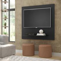 Painel Sala Flet Plus  Para TV 32 Polegadas Preto - Lojas GD -