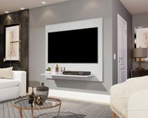 Painel Sala Para TV até 32 polegadas Wood Branco - Lojas GD -