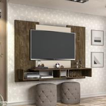 Painel Sala Tv Monaco Marrom 50 Polegada - Casa E Bebê Shop