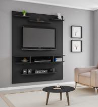 Painel Sigma para Tv até 55 polegadas Preto Fosco - Moveis bechara