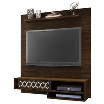 Painel Suspenso 50803 Liz Cedro para TV de até 50 Polegadas com Nichos Sala de Estar Recepção - AM Decor -