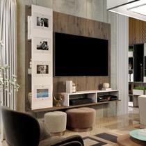 Painel Suspenso para TVs Até 50 Polegadas - Germai Estrela - Rustic/Off White -