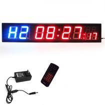 Painel Temporizador Digital em Led com Relogio, Cronometro e Contagem Regressiva  Liveup -