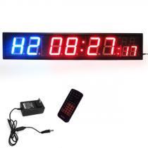 Painel Temporizador Digital em Led com Relogio Cronometro e Contagem Regressiva  Liveup -