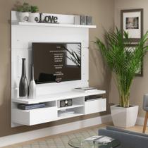 Painel TV 1,60m com 2gav Nichos e Suporte TV Master 2196 Madesa -