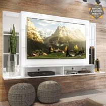 "Painel TV 60"" c/ Suporte, Espelho e Nichos Tókio Multimóveis Branco -"