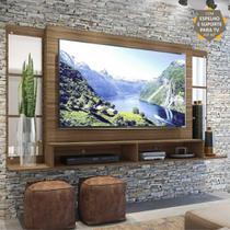"""Painel TV 60"""" c/ Suporte, Espelho e Nichos Tókio Multimóveis Madeirado -"""