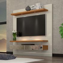 """Painel TV 60"""" Suspenso 1,80m com Luzes Led e Espelhos 100% MDF TB107E Dalla Costa -"""