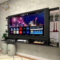 "Painel TV 65"" c/ suporte, espelho, prat. Nairóbi Multimóveis -"