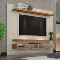 """Painel TV 65"""" Suspenso 2,20m com Luzes Led e Espelhos 100% MDF TB108E Dalla Costa -"""