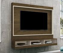 Painel TV de até 46 pol. Sala Arena Nogal Rustico/Off White - Edn moveis