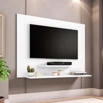 Painel TV Don 42 pol Prateleiras Flex Color Branco/Amendoa - Moveis Bechara