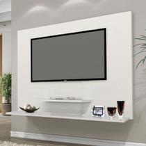 Painel TV Don 42 pol Prateleiras Flex Color Branco/Amendoa - Moveis Primus