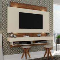 Painel TV Suspenso 180cm 2 Gavetas Luzes LED TB115L Dalla Costa -