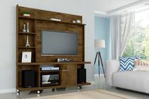 Painel TV Taurus com Rack Bancada Cor Madeira Rustica - Moveis bechara